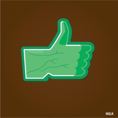 """""""Gefällt mir"""" Button von Hulk"""