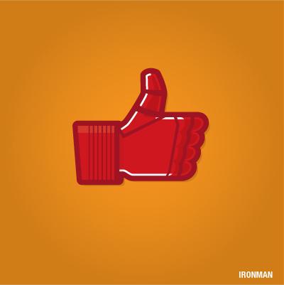 """""""Gefällt mir"""" Button von Ironman"""