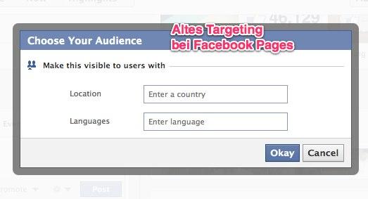 Enorme Verbesserung der Facebook Pages: Posts können in Zukunft noch genauer getargeted werden