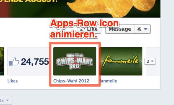 Videotutorial: App-Row Icons auf Facebook animieren!