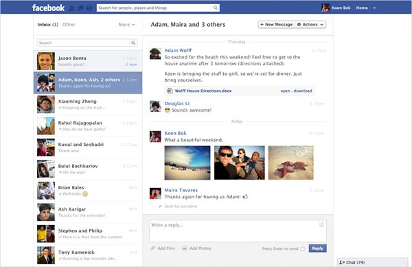 Facebook Nachrichten: Neues Design & neue Features im weltweiten Roll-Out!