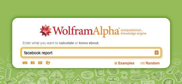 Wolfram Alpha analysiert Facebook Aktivitäten