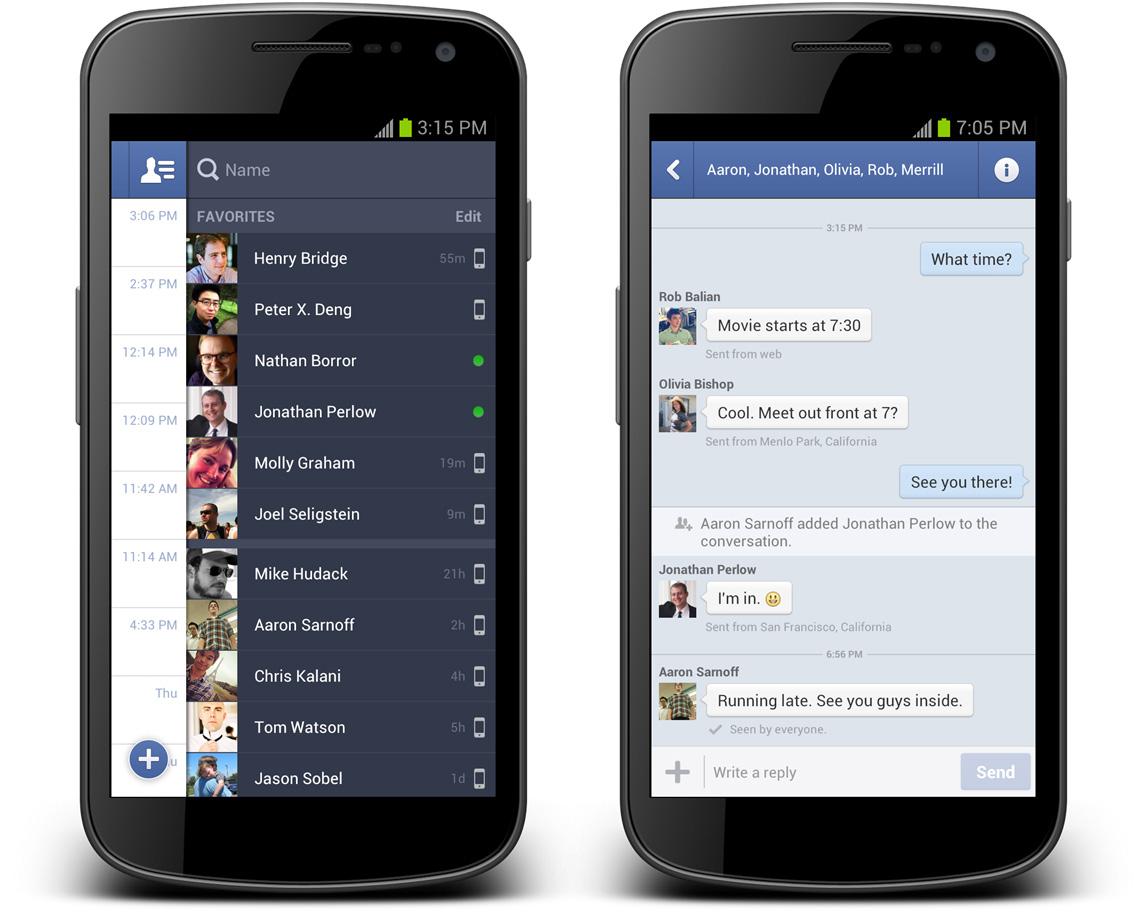 Überarbeitete Version des Facebook Messenger verfügbar (ANDROID)