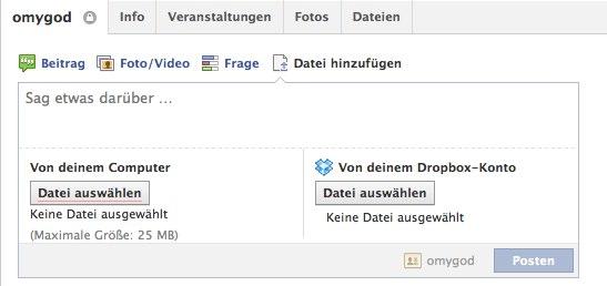 Facebook Gruppen jetzt mit Dropbox Filesharing