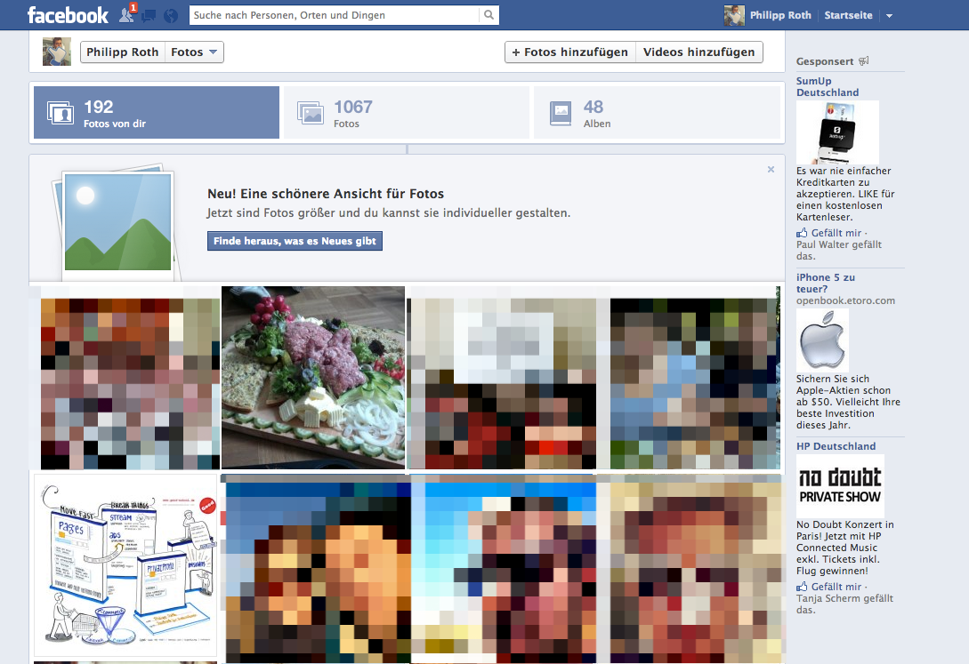 Nach 4 Monaten: Neue Fotoansicht nun auf (fast) allen Profile und Pages verfügbar