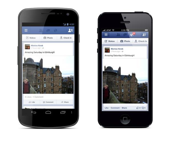 Facebook für iOS und Android: Update bringt unter anderem Sharing (bei einigen Nutzern)