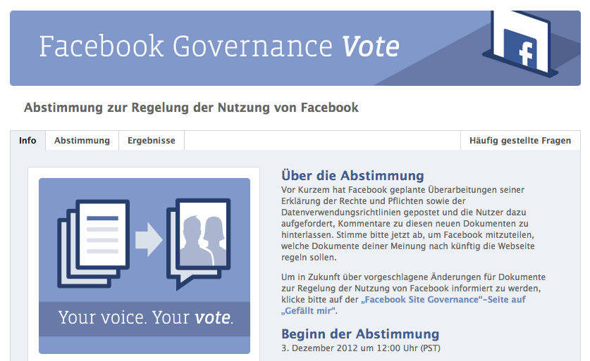 Wichtig & Weitersagen: Facebook AGB Abstimmung bis zum 10. Dezember
