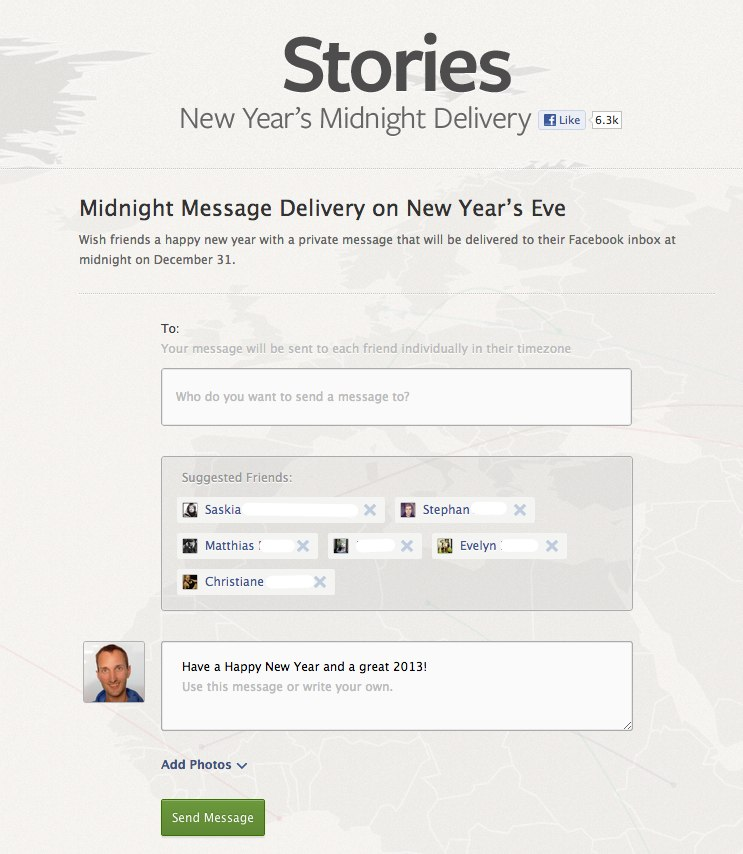 Facebook bietet speziellen Silvester Nachrichten Service
