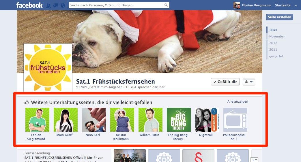 Facebook Test: Nach Like Klick – Pages die dir noch gefallen könnten