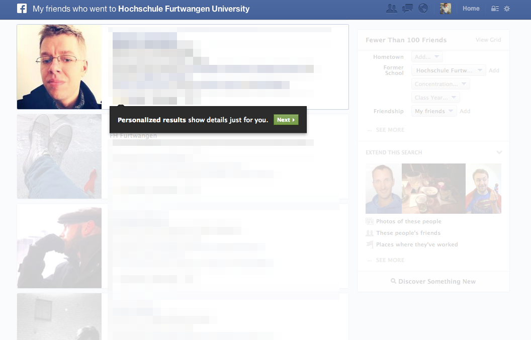 "Die neue Facebook Suche: Guided Tour zur Facebook ""Graph Search"""
