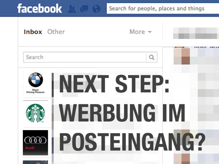 Facebook Messages – Bald auch Werbung im Facebook Posteingang!?