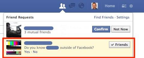 """Facebook versucht Freunde und """"echte"""" Freunde zu unterscheiden"""