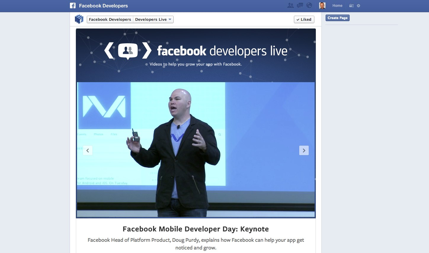Facebook Developer Love mit Developers Live