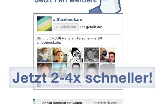 Facebook Like Box – Neue Version lädt 2-4x schneller!