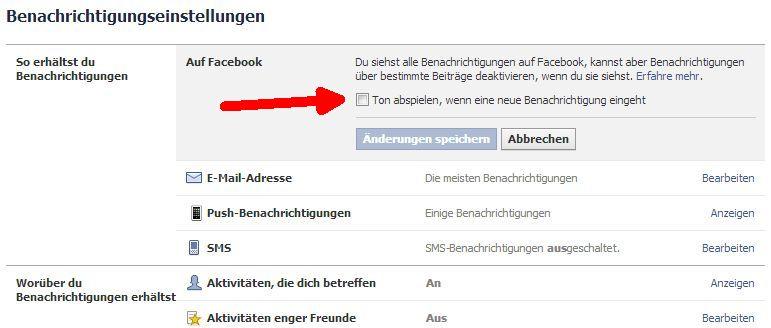 So geht's: Facebook Benachrichtigungston abstellen