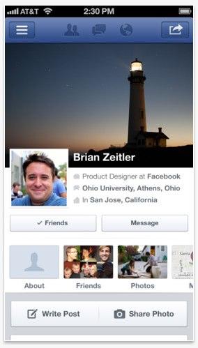 Coverfoto ändern mit neuer Facebook für iOS Version