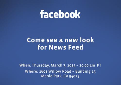 Event zum neue Facebook Newsfeed: Hier gibt es den Livestream (Update: Doch kein Livestream)