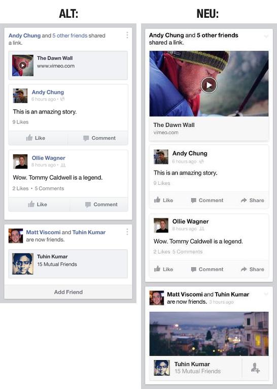 Neuer Newsfeed: Einblicke vom Facebook Design Team