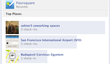 Foursquare mit einer der wenigen guten Aggregationen