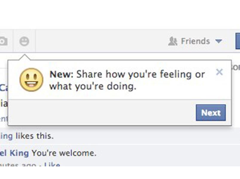 Smileys, Emoticons, Icons im Newsfeed: Facebook testet mehr Emotionen und Aktivitäten für Statusupdates
