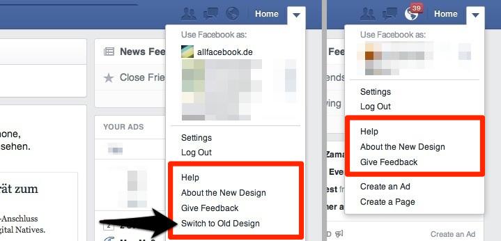Neuer Facebook Newsfeed: Für viele Nutzer direkt Pflicht, keine Option zum Wechseln verfügbar.