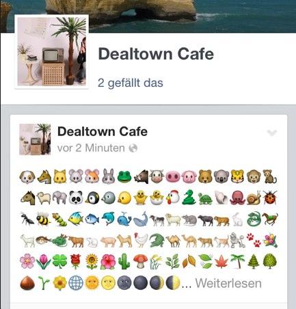 Facebook bringt Emojis in Page, Statusupdates und Kommentaren (Update)