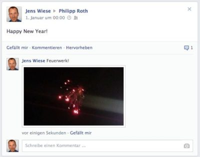 Facebook erlaubt das Kommentieren mit Fotos