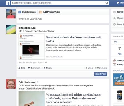 Postive Meldung für das Community-Management: Facebook macht die Kommentare wieder sortierbar