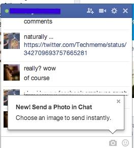 Facebook Chat erlaubt jetzt den Versand von Bildern vom Browser aus