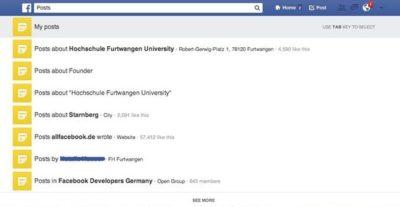 """Facebook testet """"Posts"""" Suche in der neuen Graph Search"""