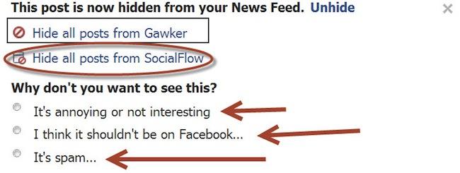 Test: Facebook fragt Nutzer, warum Inhalte im Newsfeed verborgen wurden