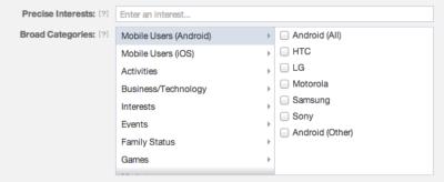 Facebook Ads: Ad-Targeting für mobile Anwender in der Übersicht