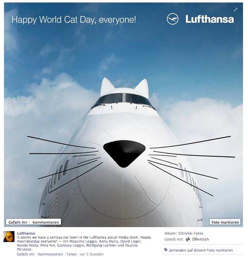 Lufthansa Facebook