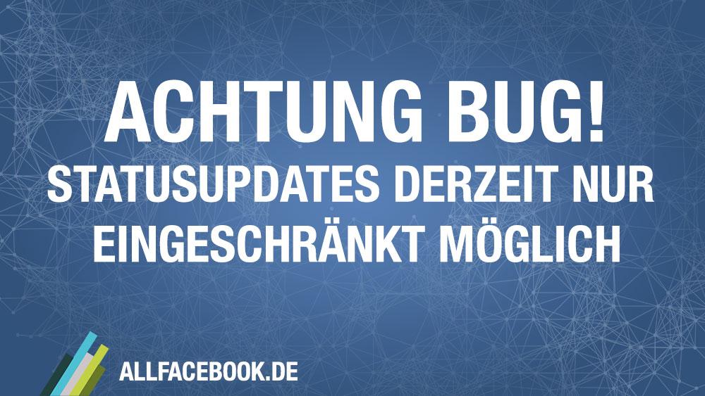 Achtung aktueller Fehler: Facebook mit Problemen beim Veröffentlichen von Beiträgen