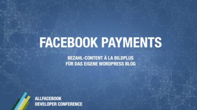 Facebook Payments @ Allfacebook Developer Conference