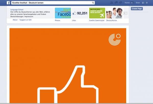 Im Test: Neue Darstellung der Tabs (Unterseiten) auf Facebook Page.