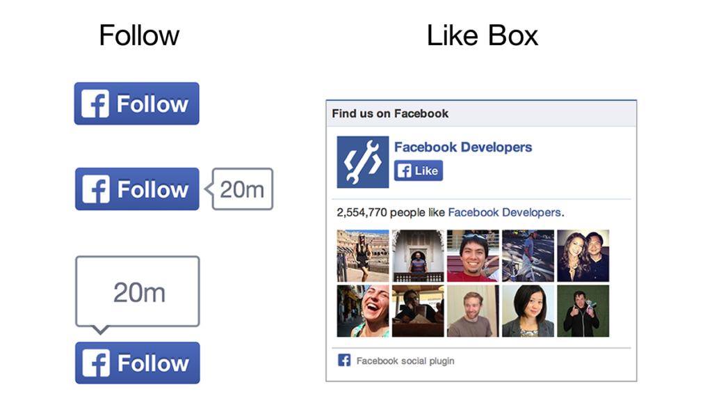 Facebook passt Like-Box und Follow-Button an neues Design an