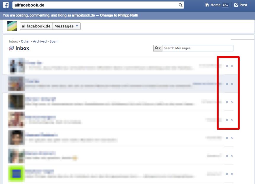 Neuer Test sorgt für Unordnung im Posteingang von Facebook-Seiten