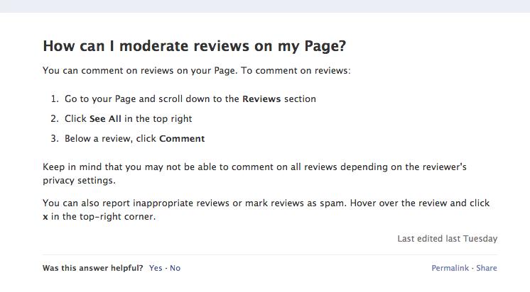 Erleichterung für Facebook Places: Bewertungen können nun kommentiert werden