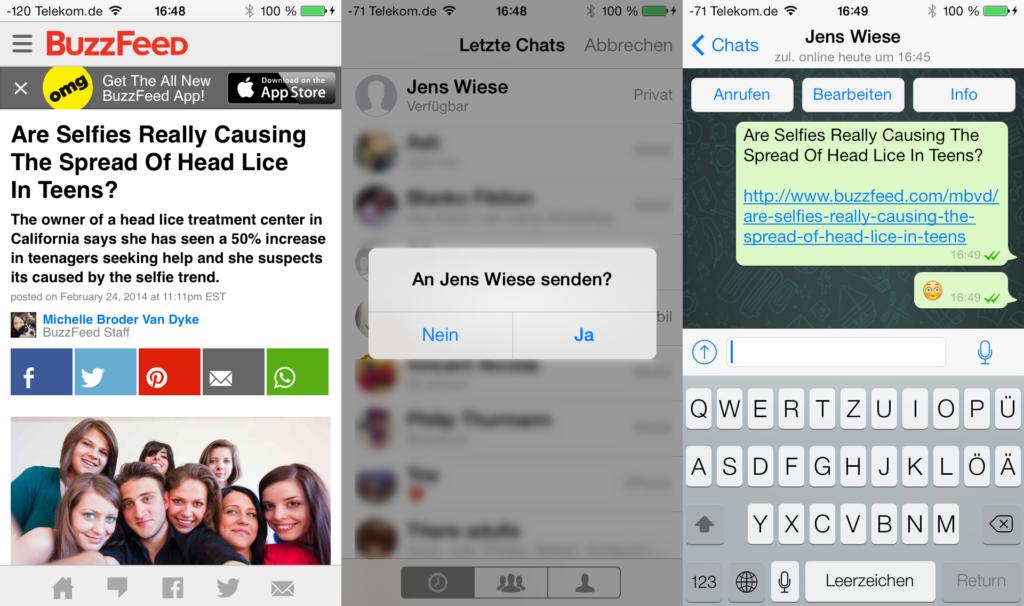 Was der WhatsApp Share Button kann und worauf geachtet werden muss