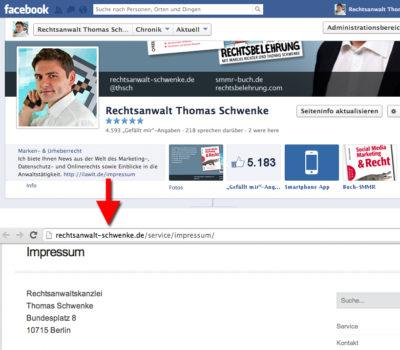 Das Impressum | Rechtliche Stolperfallen beim Facebook Marketing Teil 4
