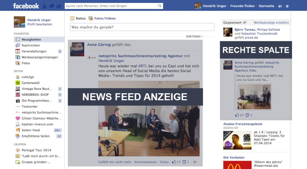 """Facebook ADs – Das Aschenputtel """"rechte Spalte"""" wird zum Retter in der Not (Gastbeitrag)"""