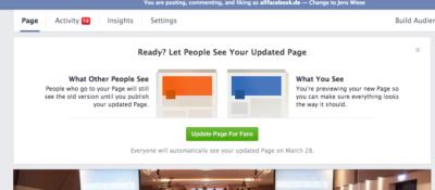 Neues Pages Design – So läuft die Umstellung Schritt für Schritt