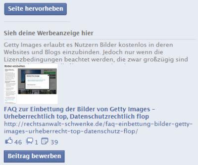 Facebooks IP-Lizenz, Stockbilder, Sharing und Vorschaubilder | Rechtliche Stolperfallen beim Facebook Marketing Teil 8