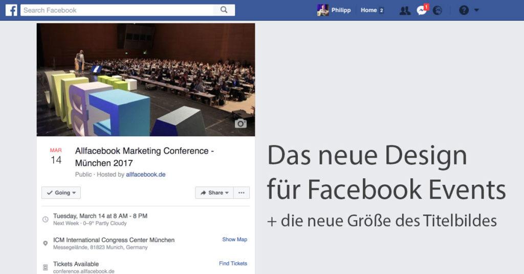 Das neue Design für Facebook Events und die passende Bildgröße für das Titelbild