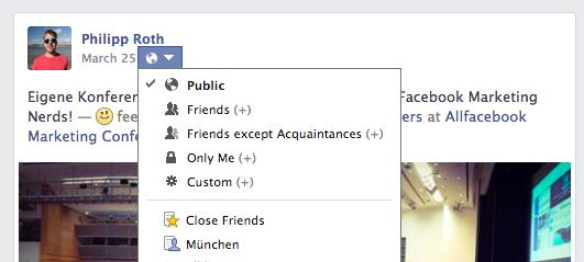 Sichtbarkeit eines Facebook Posts nachträglich ändern