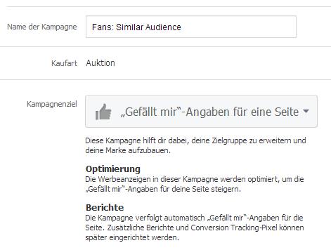 Einstellungen für Facebook Anzeigen
