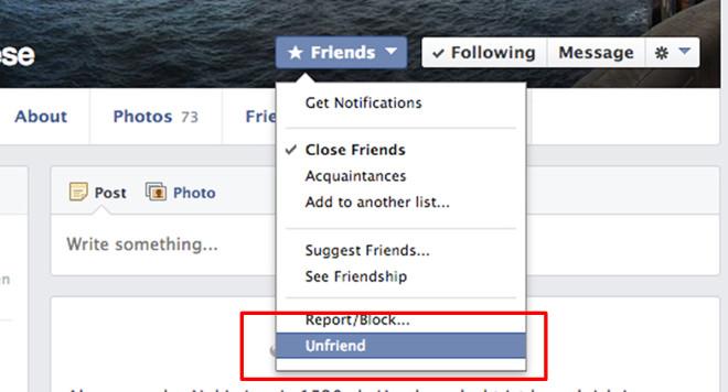 Screenshot: So werden auf Facebook Freunde entfernt