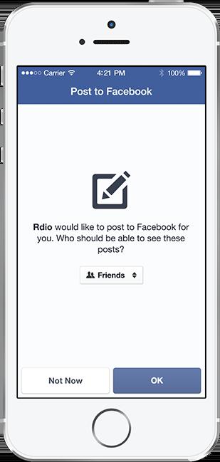 Screenshot: Einstellen der Sichtbarkeit von Posts im Freundeskreis beim Facebook Login