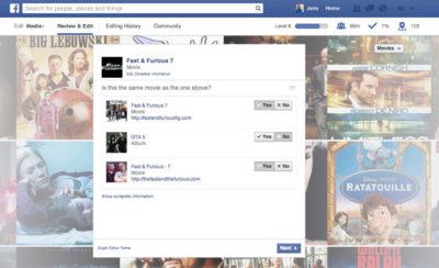 Facebook lässt die Nutzer nach Duplikaten bei Filmen und TV-Shows suchen